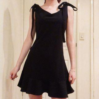 Tie Black Mini Dress
