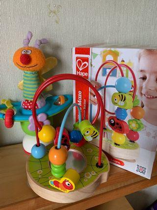 Hape beads maze Taf Toys activity toy