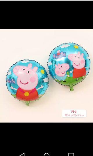 全新 粉紅豬小妹 peppa pig 裝飾 兒童 生日 派對佈置 粉紅小猪 小豬佩奇  18寸 鋁膜汽球 鋁箔汽球 氫氣球 氦氣 卡通汽球