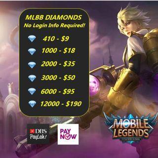 💎MLBB DIAMONDS Mobile Legends