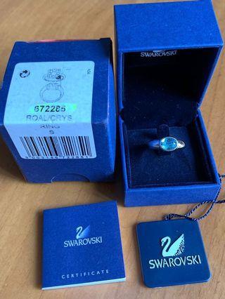 Swarovski 淺藍色水晶介指