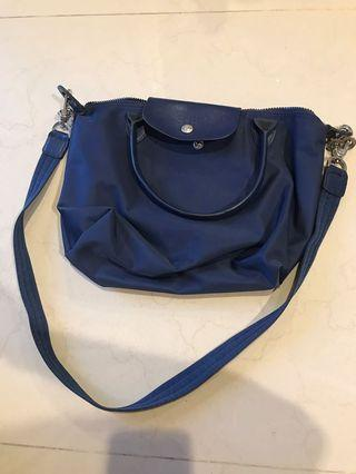 Longchamp Warna Navy Blue size M