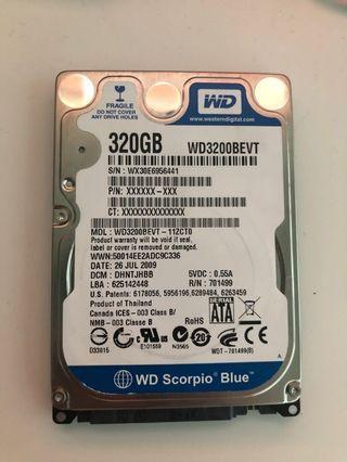 WD 320GB Laptop HDD