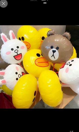 全新 line friends brown cony sally 裝飾 兒童 生日 派對佈置  18寸 鋁膜汽球 鋁箔汽球 氫氣球 氦氣 卡通氣球