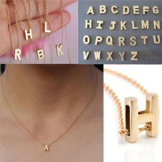 [PO] Gold-plated Initial/Letter/Alphabet Choker Necklace