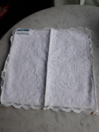 white embroidery cushion case