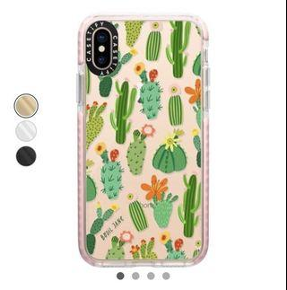 Casetify IPhone XS Cactus casing