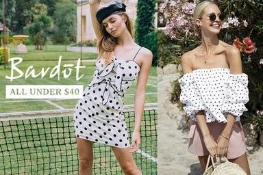 Bardot Aubrey Podka Dot Dress White