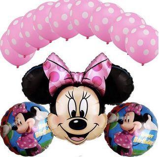 Minnie Mouse Pink Balloon Set (13 pcs)