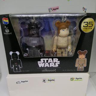 Bearbrick x Star Wars Darth Vader Luke Skywalker figures (genuine)