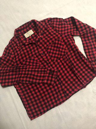 Zara Trafaluc Red Plaid Flannel
