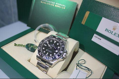 Rolex New & Discontinued GMT Master II Black