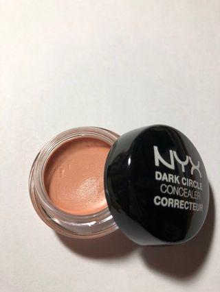 NYX dark circle concealer DCC02 light color 修飾 瑕遮膏