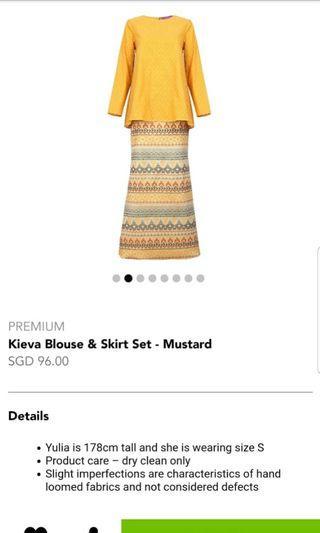 🚚 Kieva Blouse & Skirt Set Mustard