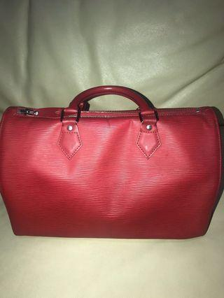 Speedy Epi Leather red