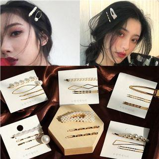 [PO] Korean Gold Pearl Hairpin/Hair clips