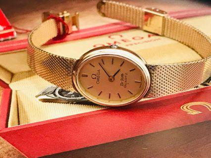 Hari Raya Special 20% off - 10K Solid Gold Omega DeVille Vintage with Original Box and Papers