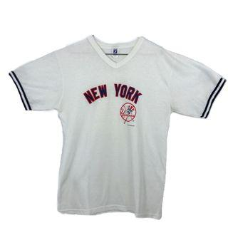 🚚 USA vintage 古著 80s New York Yankee 老古著 made in USA