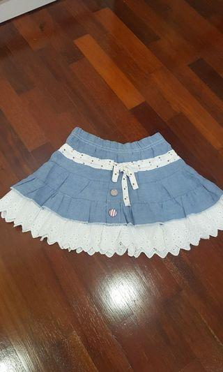 Birds&bee Denim skirt (1-3 Y)