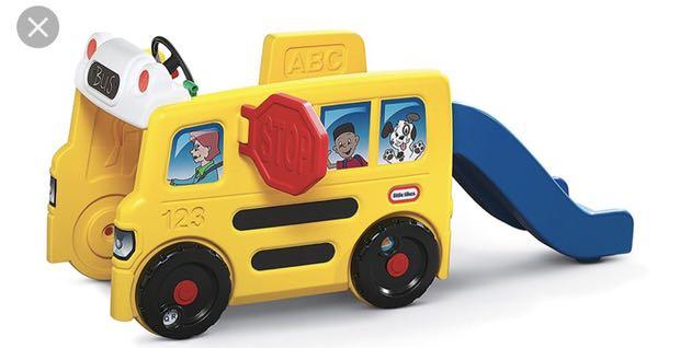 Little Tikes School bus with Slide