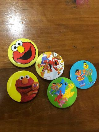 Elmo pin badges