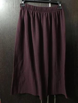 高彈性棗紅色長裙 #summer19