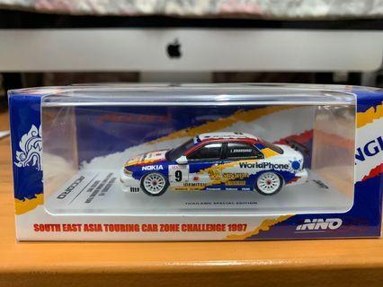 """泰國限定 全新未開封 INNO64 1/64 Honda Accord CD6 #9 """"World Phone Singha Racing Team"""" Southeast Asian Touring Car Zone Challenge 1997 (Not tiny tarmac ignition model tomica)"""