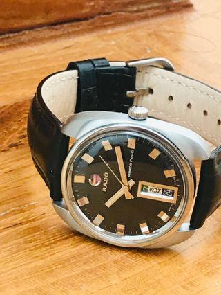 Hari Raya Special 10% off - Very Rare Authentic Vintage Rado Marco Polo, 17 Jewels, Swiss Month:Day/Date Automatic, Quickset, Rotatable Anchor, with Box, recently serviced, Cira 1970.