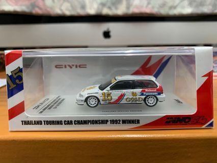 """泰國限定 全新未開封 INNO64 1/64 Honda CIvic EF9 #15 """"SINGHA NATIONAL PANASONIC"""" Thailand Touring Car Championship 1992 (Not Tarmac tiny tomica ignition model)"""