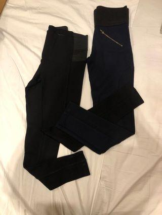 Set of 2 Zara Basic Leggings Pants (US S)