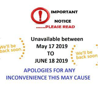 ATTENTION ALL BUYERS! BEAUTY CENTRAL WILL BE UN AVAILABLE BETWEEN...MAY 17-5-2019 TO 18-6-2019...ALL INQUIRIES ANSWERED 18/6 ON WARDS