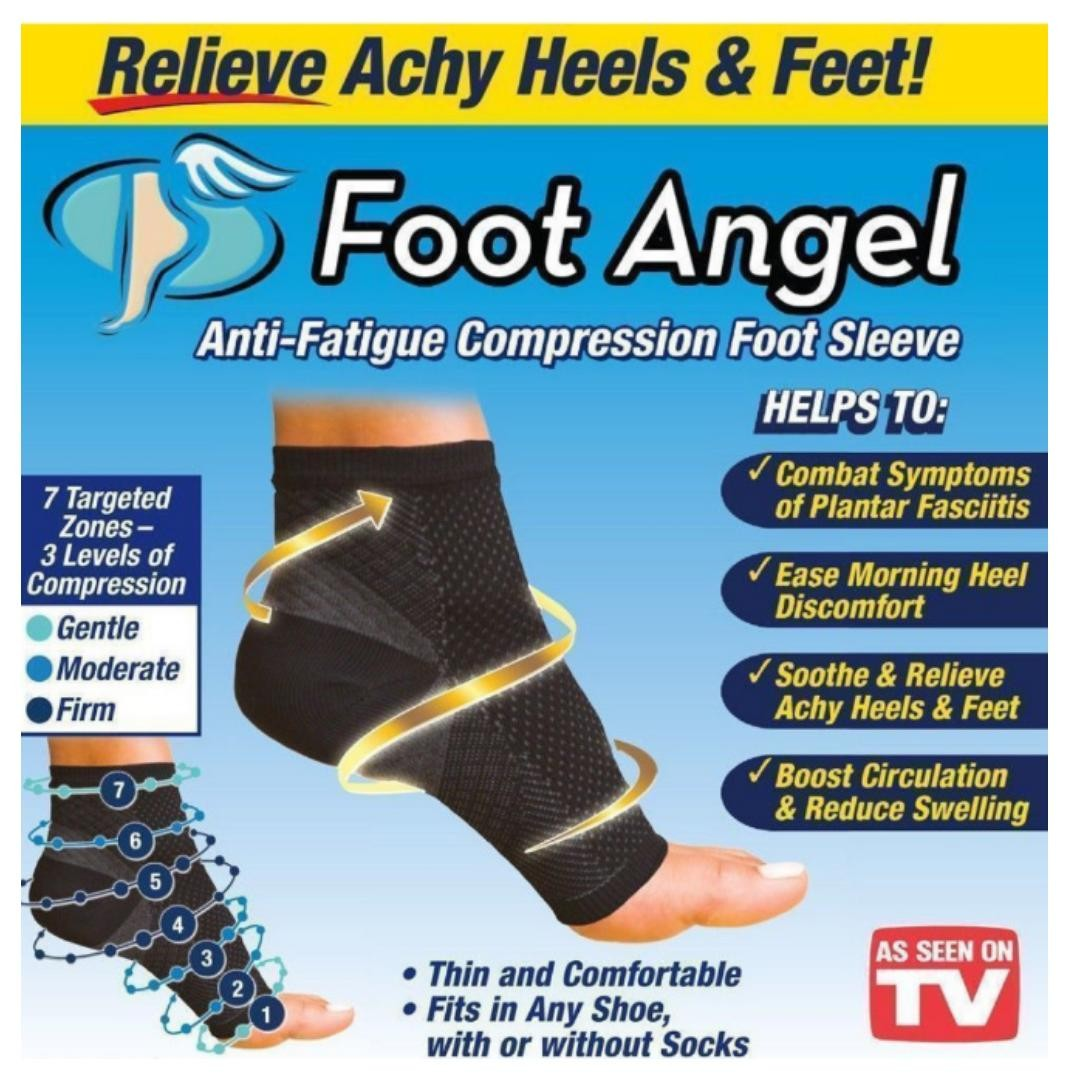 4405ccb646 1 pair of Unisex Foot Angel Anti Fatigue Compression Foot Sleeve ...
