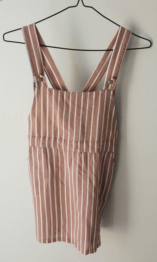 Pink & White Stripped Playsuit