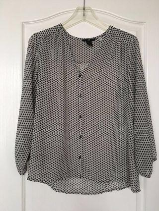 H&M Patterned Blouse - S