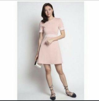 Love bonito sweet pink mock neck dress