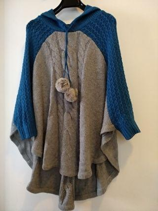 b + a b knitted top with hood