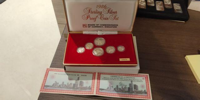 1986 Sterling Silver Proof Coin Set