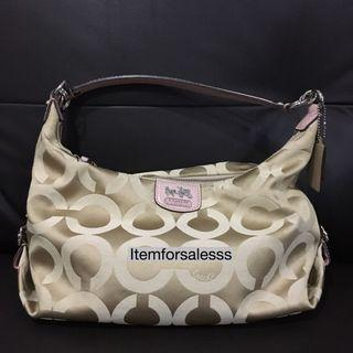Coach hobo bag with sling long strap