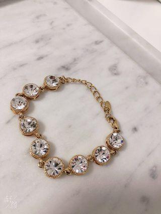 zircon crystal gold bracelet