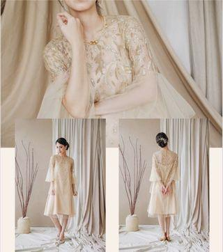 For rent gold dress