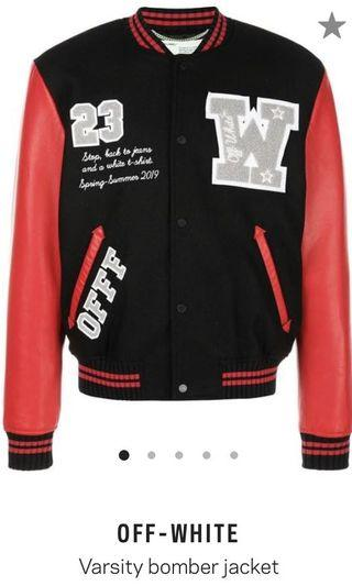 Off white varsity jacket