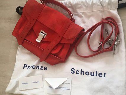 Proenza Schouler PS1 Tiny 麂皮肩背包側背包
