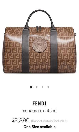 Fendi Monogram Satchel