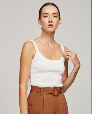 OSN Knitted Scoop Tank Top