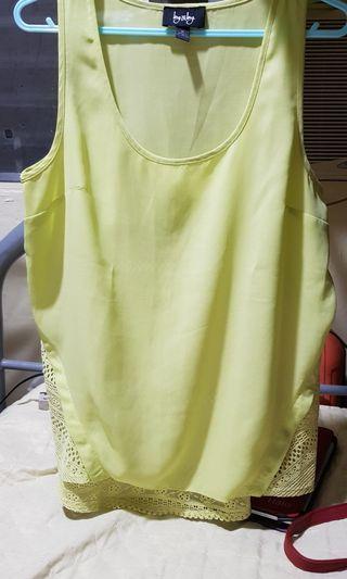 Free SF!! Neon green sleeveless