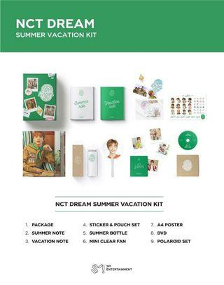 NCT DREAM SUMMER VACATION KIT - LOOSE ITEMS