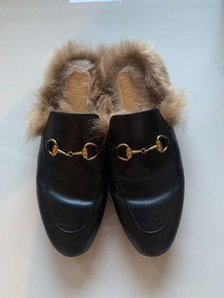 🚚 Gucci Princetown Leather Mules, Size 37
