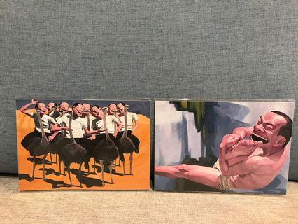 岳敏君postcard