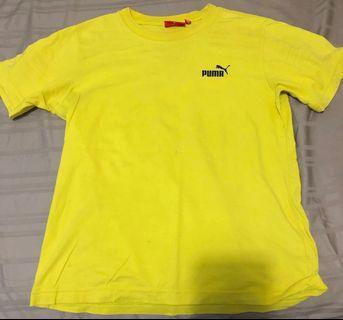 Puma Yellow Logo Shirt