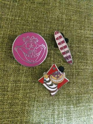 妙妙貓系列(3個)-disney pin迪士尼襟章